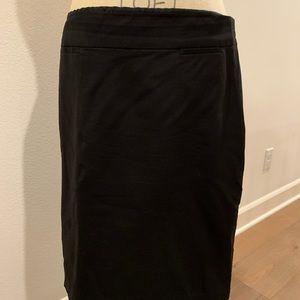 Banana Republic Stretch Black Pencil Skirt